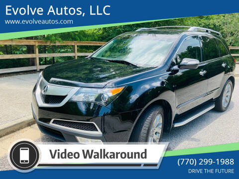 2012 Acura MDX for sale at Evolve Autos, LLC in Lawrenceville GA