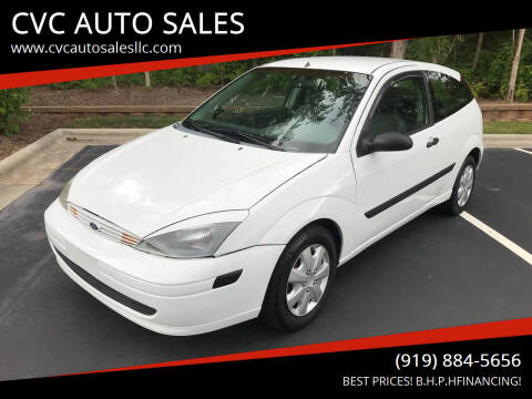 2004 Ford Focus for sale at CVC AUTO SALES in Durham NC