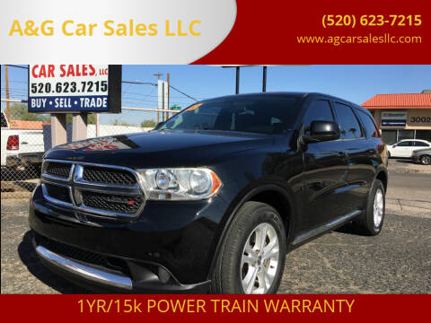 2013 Dodge Durango for sale at A&G Car Sales  LLC in Tucson AZ