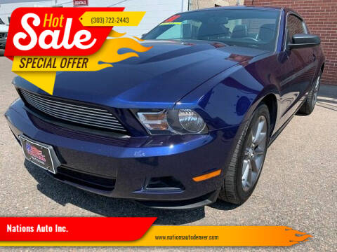 2011 Ford Mustang for sale at Nations Auto Inc. in Denver CO