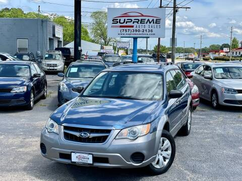2008 Subaru Outback for sale at Supreme Auto Sales in Chesapeake VA