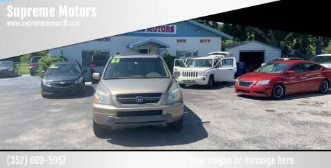 2005 Honda Pilot for sale at Supreme Motors in Tavares FL