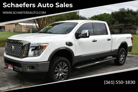 2018 Nissan Titan XD for sale at Schaefers Auto Sales in Victoria TX