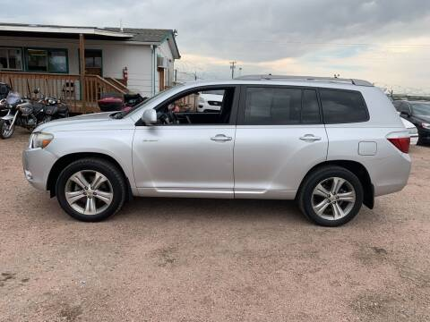 2008 Toyota Highlander for sale at PYRAMID MOTORS - Fountain Lot in Fountain CO