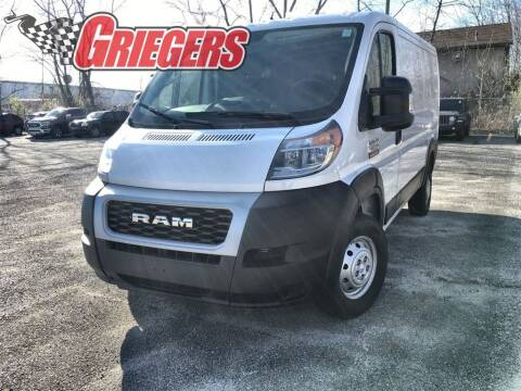 2020 RAM ProMaster Cargo for sale at GRIEGER'S MOTOR SALES CHRYSLER DODGE JEEP RAM in Valparaiso IN
