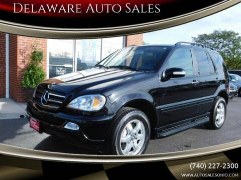 2003 Mercedes-Benz M-Class for sale at Delaware Auto Sales in Delaware OH