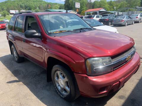 2006 Chevrolet TrailBlazer for sale at BURNWORTH AUTO INC in Windber PA