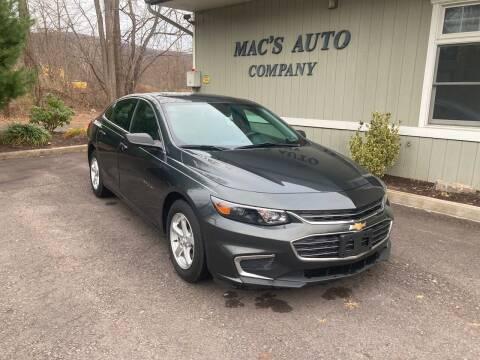 2018 Chevrolet Malibu for sale at MAC'S AUTO COMPANY in Nanticoke PA
