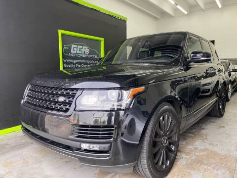 2016 Land Rover Range Rover for sale at GCR MOTORSPORTS in Hollywood FL