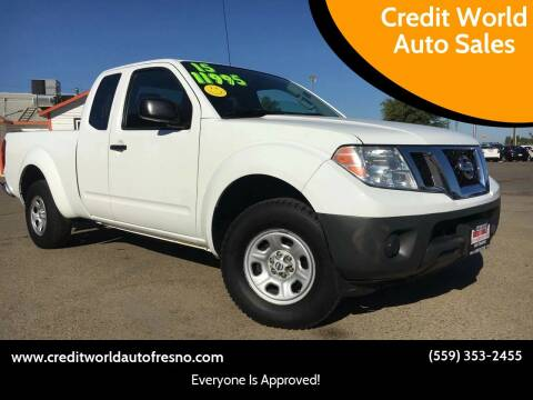 2015 Nissan Frontier for sale at Credit World Auto Sales in Fresno CA