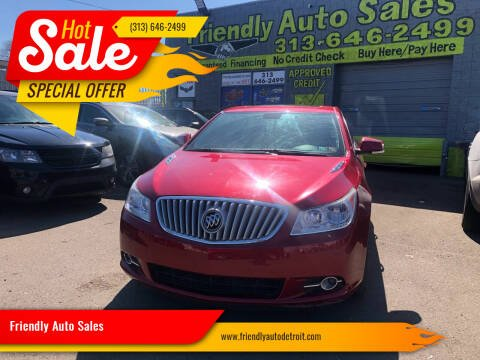 2012 Buick LaCrosse for sale at Friendly Auto Sales in Detroit MI