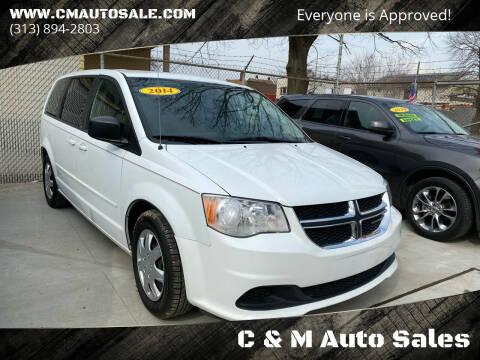 2014 Dodge Grand Caravan for sale at C & M Auto Sales in Detroit MI