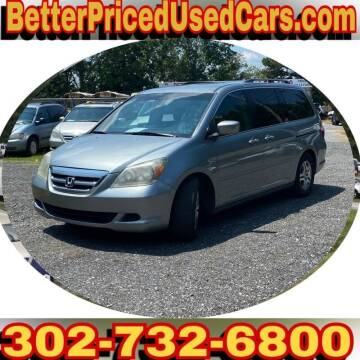 2006 Honda Odyssey for sale at Better Priced Used Cars in Frankford DE
