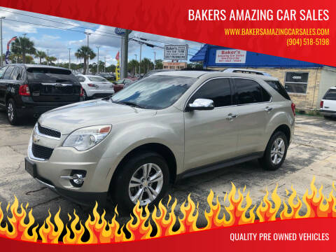2013 Chevrolet Equinox for sale at Bakers Amazing Car Sales in Jacksonville FL