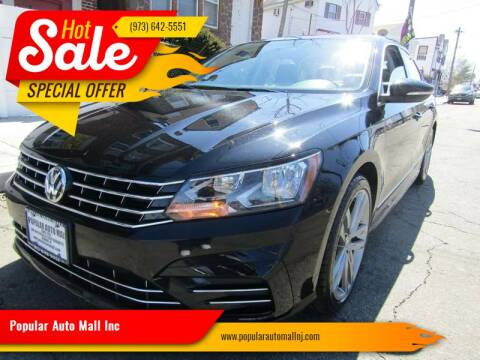 2016 Volkswagen Passat for sale at Popular Auto Mall Inc in Newark NJ