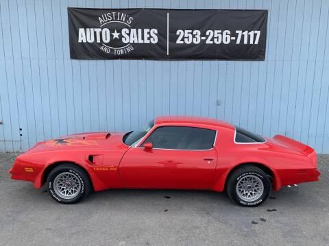 1978 Pontiac Firebird Trans Am for sale at Austin's Auto Sales in Edgewood WA
