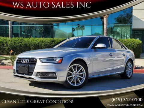 2015 Audi A4 for sale at WS AUTO SALES INC in El Cajon CA