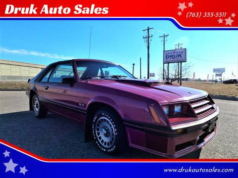 1982 Ford Mustang for sale at Druk Auto Sales in Ramsey MN