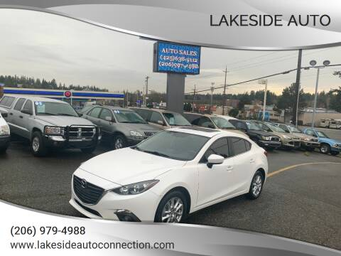 2016 Mazda MAZDA3 for sale at Lakeside Auto in Lynnwood WA