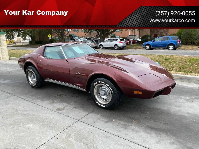 1976 Chevrolet Corvette for sale at Your Kar Company in Norfolk VA