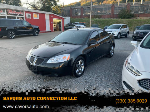 2009 Pontiac G6 for sale at SAVORS AUTO CONNECTION LLC in East Liverpool OH