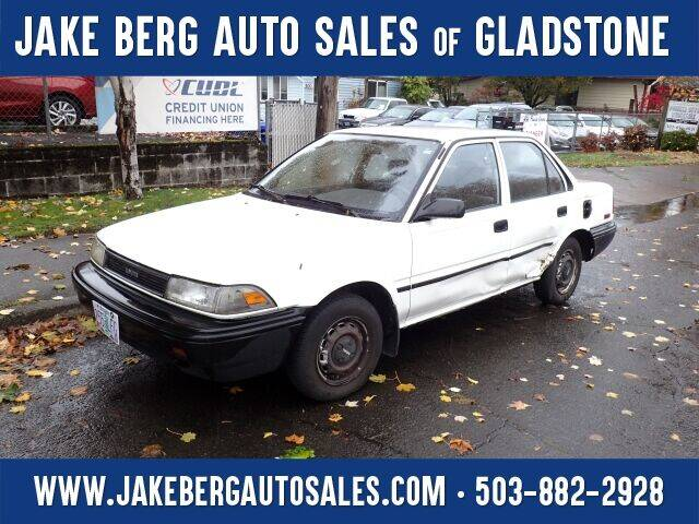 1990 Toyota Corolla for sale at Jake Berg Auto Sales in Gladstone OR