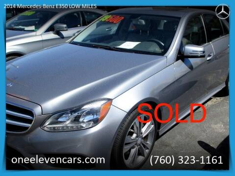 2014 Mercedes-Benz E350 LOW MILES for sale at One Eleven Vintage Cars in Palm Springs CA