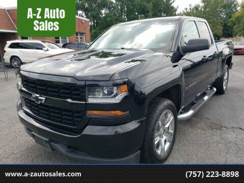 2018 Chevrolet Silverado 1500 for sale at A-Z Auto Sales in Newport News VA