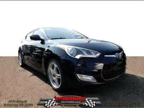 2012 Hyundai Veloster for sale at PRIME MOTORS LLC in Arlington VA