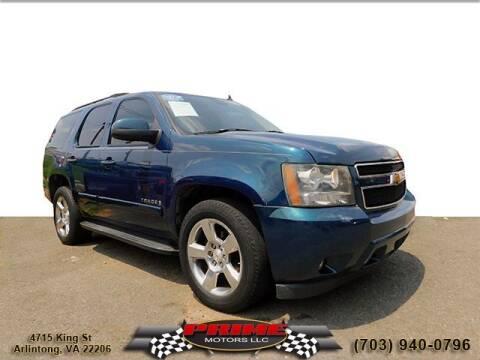2007 Chevrolet Tahoe for sale at PRIME MOTORS LLC in Arlington VA