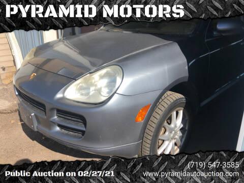 2005 Porsche Cayenne for sale at PYRAMID MOTORS - Pueblo Lot in Pueblo CO