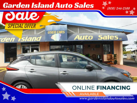 2018 Nissan LEAF for sale at Garden Island Auto Sales in Lihue HI