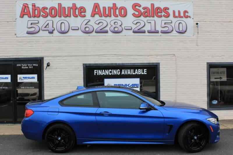 2017 BMW 4 Series for sale at Absolute Auto Sales in Fredericksburg VA