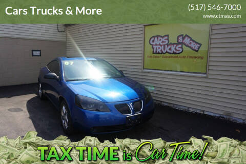 2007 Pontiac G6 for sale at Cars Trucks & More in Howell MI