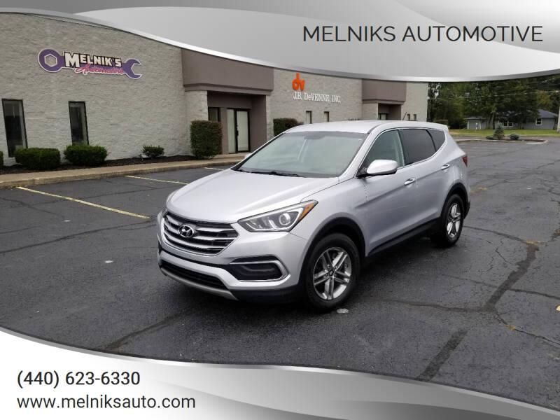 2018 Hyundai Santa Fe Sport for sale at Melniks Automotive in Berea OH