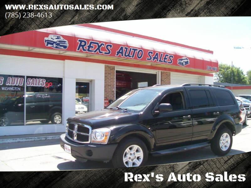 2004 Dodge Durango for sale at Rex's Auto Sales in Junction City KS
