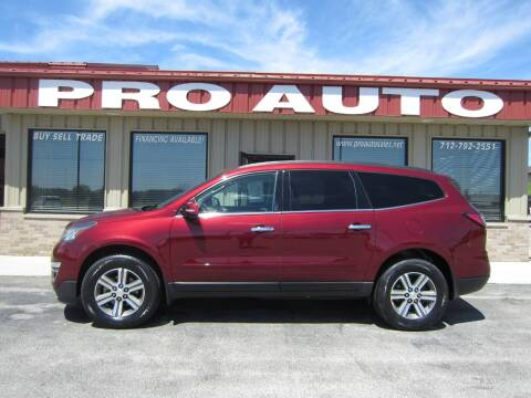 2017 Chevrolet Traverse for sale at Pro Auto Sales in Carroll IA