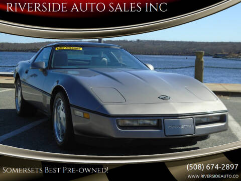 1989 Chevrolet Corvette for sale at RIVERSIDE AUTO SALES INC in Somerset MA