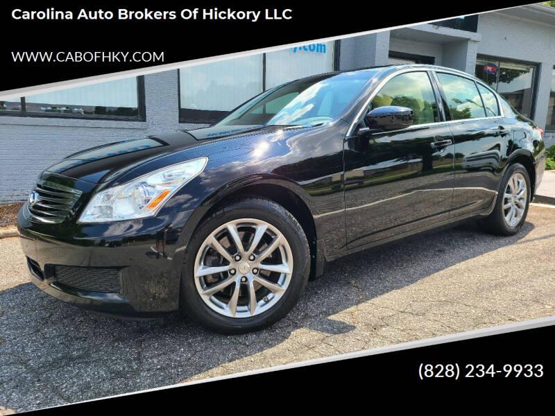 2009 Infiniti G37 Sedan for sale at Carolina Auto Brokers of Hickory LLC in Newton NC