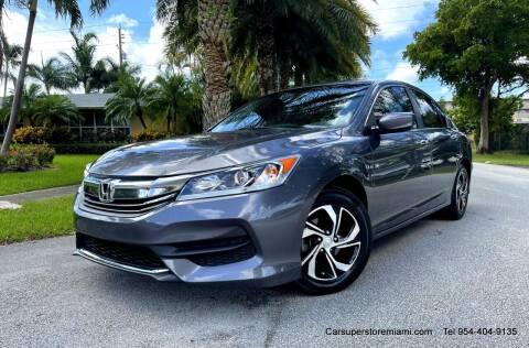 2017 Honda Accord for sale at HD CARS INC in Hollywood FL