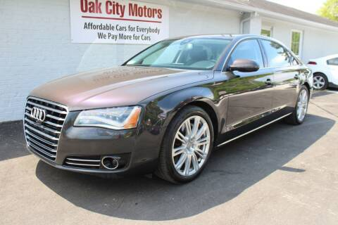 2014 Audi A8 L for sale at Oak City Motors in Garner NC
