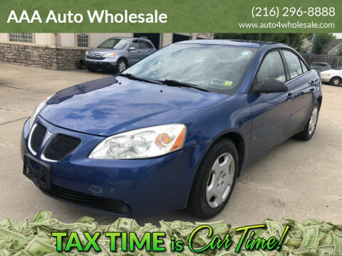 2006 Pontiac G6 for sale at AAA Auto Wholesale in Parma OH