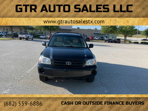 2004 Toyota Highlander for sale at GTR Auto Sales LLC in Haltom City TX