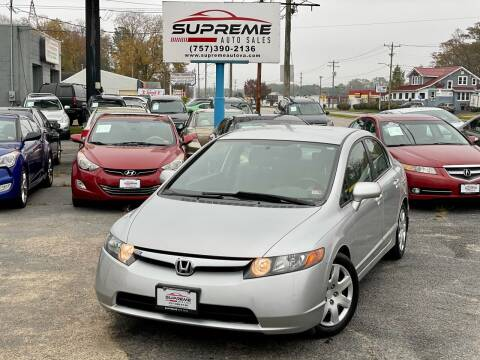 2007 Honda Civic for sale at Supreme Auto Sales in Chesapeake VA