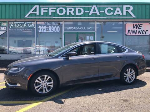 2015 Chrysler 200 for sale at Afford-A-Car in Dayton/Newcarlisle/Springfield OH