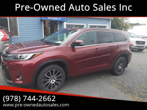 2017 Toyota Highlander for sale at Pre-Owned Auto Sales Inc in Salem MA