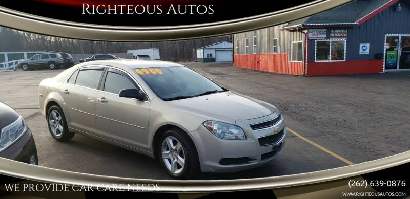 2010 Chevrolet Malibu for sale at Righteous Autos in Racine WI
