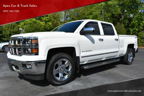 2015 Chevrolet Silverado 1500 for sale at Apex Car & Truck Sales in Apex NC