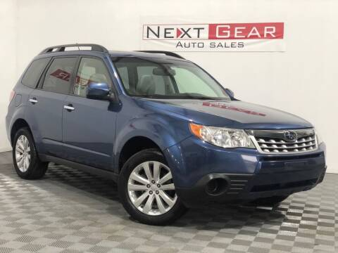 2013 Subaru Forester for sale at Next Gear Auto Sales in Westfield IN