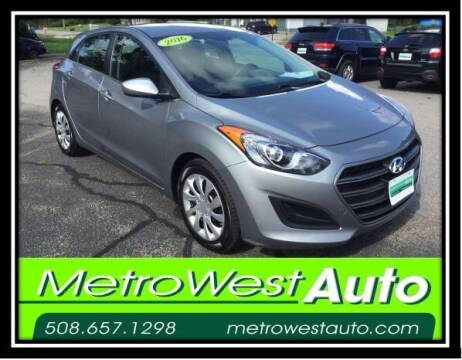 2016 Hyundai Elantra GT for sale at Metro West Auto in Bellingham MA